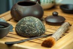 Chá do puer de shen do chinês Imagem de Stock