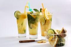 Chá do verão com frutos frescos Imagem de Stock