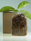 Chá dos lótus seco no saco Imagem de Stock Royalty Free