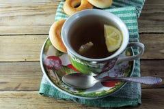 Chá e bagels do limão Imagem de Stock Royalty Free