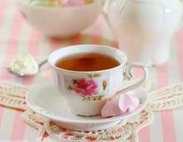 Chá e biscoitos Fotos de Stock Royalty Free