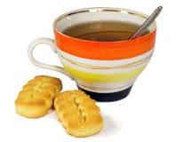 Chá e bolinhos Fotografia de Stock Royalty Free