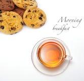 Chá e bolinhos foto de stock