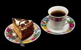 Chá e bolo Fotografia de Stock
