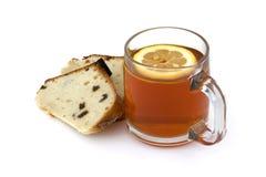 Chá e bolo Fotos de Stock Royalty Free