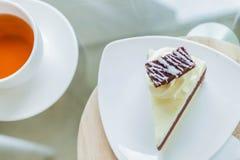 Chá e bolo para uma ruptura Foto de Stock