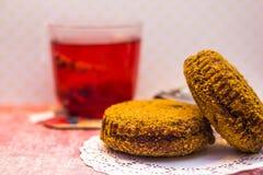 Chá e bolos Imagens de Stock