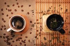 Chá e café Fotografia de Stock