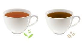 Chá e café Fotografia de Stock Royalty Free