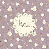 Chá e doces Imagem de Stock Royalty Free