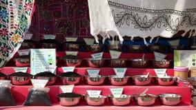 Chá e especiaria de Masala video estoque