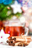 Chá e especiarias do Natal Fotos de Stock Royalty Free