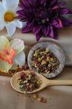 Chá e flores Imagem de Stock