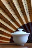 Chá e jogo de chá chineses Fotografia de Stock