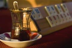 Chá e jogo de mesa fotos de stock