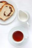 Chá e pão Imagem de Stock