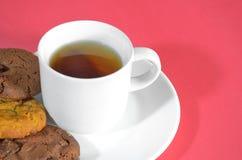Chá e petisco Imagem de Stock Royalty Free