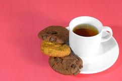 Chá e petisco Imagens de Stock Royalty Free