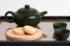 Chá e petisco asiáticos do zen Fotos de Stock
