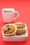 Chá e queques Imagem de Stock Royalty Free