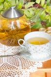 Chá e secagem da fermentação na tabela Fotos de Stock Royalty Free