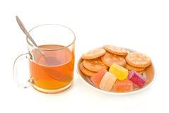 Chá e sobremesa Fotos de Stock