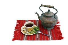 Chá e teapot Fotografia de Stock Royalty Free