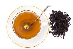 Chá e um filtro para as folhas Foto de Stock