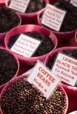 Chá em um mercado Fotografia de Stock