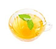 Chá erval com hortelã fresca. Imagem de Stock