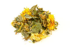 Chá erval do apoio do estômago, isolado no fundo branco Fotos de Stock