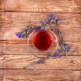 Chá erval no fundo branco Imagens de Stock