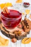 Chá Flavored do fruto com canela imagem de stock