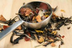 Chá frouxo da alfazema foto de stock royalty free