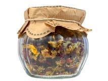 Chá Fruity em um frasco Imagens de Stock