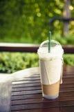 Chá gelado com leite Fotografia de Stock