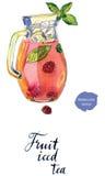 Chá gelado do fruto no jarro Imagem de Stock