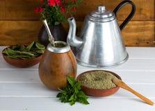 Chá latinamerican tradicional do companheiro de Yerba Imagens de Stock