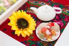 Chá na soleira Foto de Stock Royalty Free