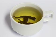Chá no copo branco, bebida saudável, Fotos de Stock