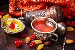 Chá no estilo árabe Fotos de Stock