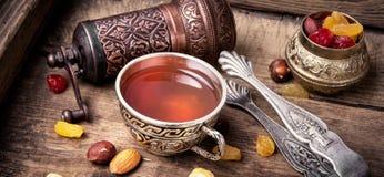 Chá no estilo árabe Foto de Stock Royalty Free