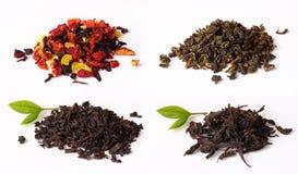chá no fundo branco, Foto de Stock