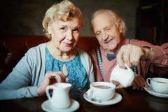 Chá no restaurante fotografia de stock royalty free