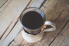 Chá no suporte de copo do russo Fotografia de Stock Royalty Free