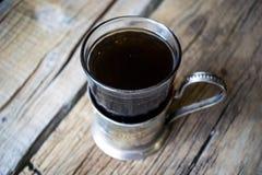 Chá no suporte de copo do russo Foto de Stock