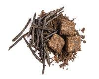 Chá plutônio-erh e Kuding Imagens de Stock Royalty Free