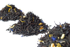 Chá preto cinzento do conde isolado no branco Imagem de Stock
