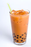 Chá preto com creme Fotografia de Stock Royalty Free