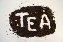 Chá preto com tomilho adicionado fotografia de stock